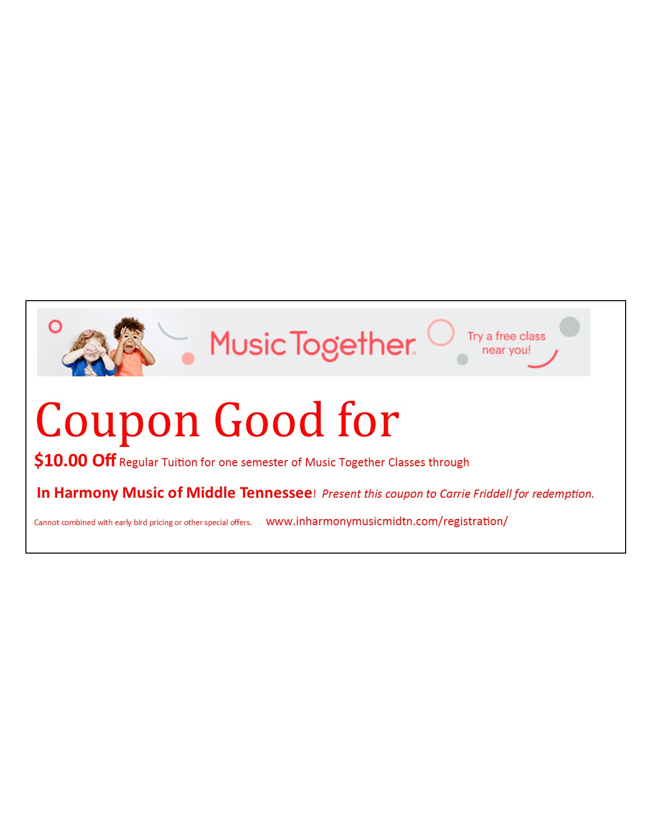 Music together coupon code